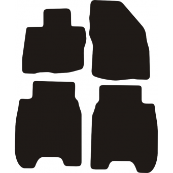 Textilní autokoberce na Honda Civic hatchback /2006-/