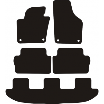 Textilní autokoberce na Volkswagen Sharan /2010-/